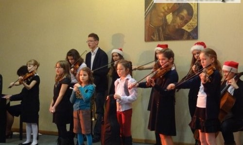 Koncert kolęd w wykonaniu uczniów Państwowej Szkoły Muzycznej im. Franciszka Liszta w Głogowie