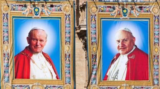 Papież Franciszek ogłosił Jana XXIII i Jana Pawła II Świętymi.