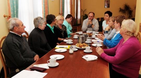 Spotkanie zarządu Centrum Ochotników Cierpienia Diecezji Zielonogórsko-Gorzowskiej w Głogowie.