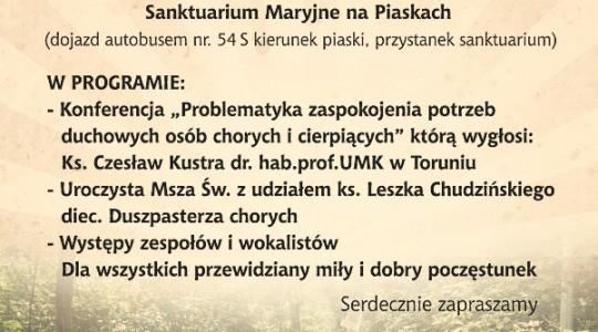 I Diecezjalny Dzień Chorego w Bydgoszczy.