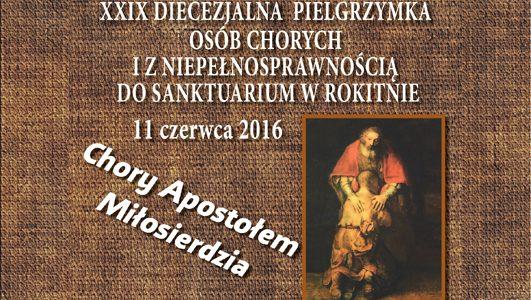 Zaproszenie na Diecezjalną Pielgrzymkę Osób Chorych i z Niepełnosprawnością do Rokitna